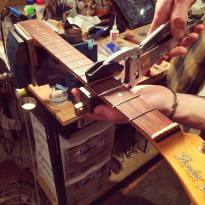 Refretting with the Stewmac Jaws Fret Pres