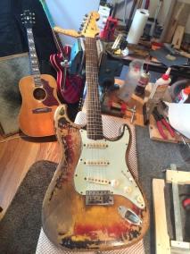 Original vintage 1963 Fender Strat in for some repair work (!!!)