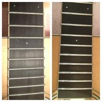 Ebony fingerboard crack repairs and fret dress.